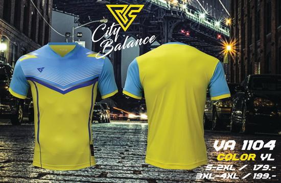 เสื้อกีฬา เวอร์ซูส versus รุ่น va-1104 (สีเหลือง) พิมพ์ลาย