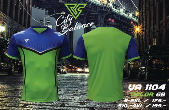 เสื้อกีฬา เวอร์ซูส versus รุ่น va-1104 (สีเขียว) พิมพ์ลาย