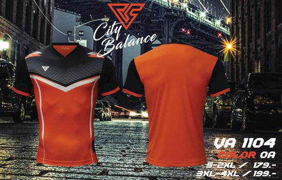 เสื้อกีฬา เวอร์ซูส versus รุ่น va-1104 (สีส้ม) พิมพ์ลาย