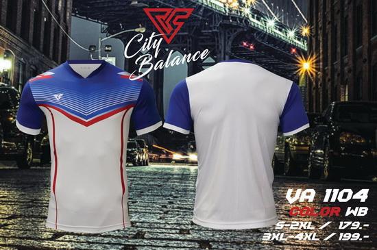 เสื้อกีฬา เวอร์ซูส versus รุ่น va-1104 (สีขาว) พิมพ์ลาย