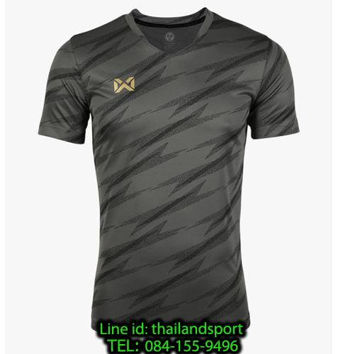 เสื้อกีฬา วอริค warrix รหัส wa-fba575 (สีดำ aa) ผ้าทอลาย