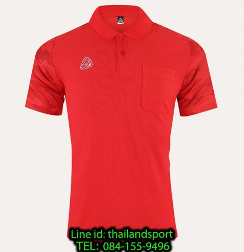 เสื้อโปโล polo shirt  อีโก้ รุ่น eg 6157 (สีแดง) man