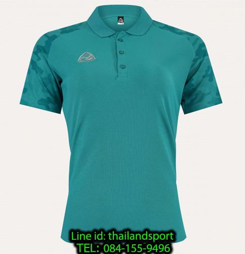 เสื้อโปโล polo shirt  อีโก้ รุ่น eg 6157 (สีเขียวทะเล) man