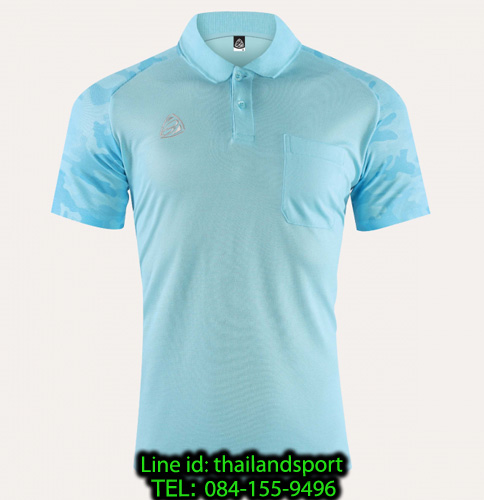 เสื้อโปโล polo shirt  อีโก้ รุ่น eg 6157 (สีฟ้าอ่อน) man
