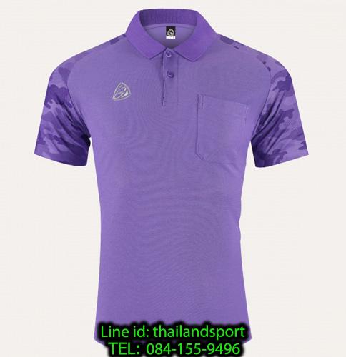 เสื้อโปโล polo shirt  อีโก้ รุ่น eg 6157 (สีม่วงเข้ม) man