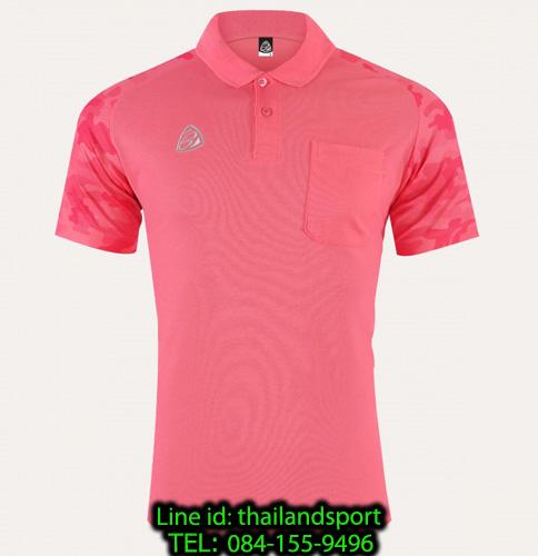เสื้อโปโล polo shirt  อีโก้ รุ่น eg 6157 (สีชมพูเข้ม) man