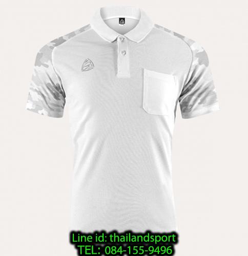เสื้อโปโล polo shirt  อีโก้ รุ่น eg 6157 (สีขาว) man