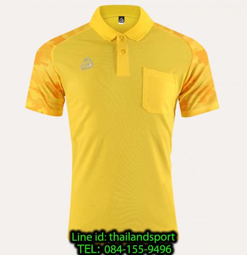 เสื้อโปโล polo shirt  อีโก้ รุ่น eg 6157 (สีเหลืองจันทร์) man