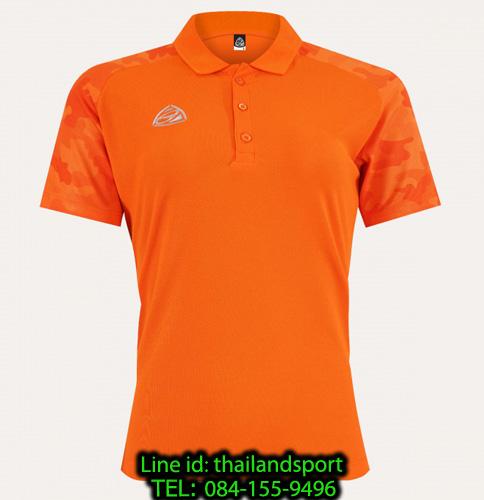 เสื้อโปโล polo shirt  อีโก้ ego sport รุ่น eg 6158 (สีส้มแสด) women
