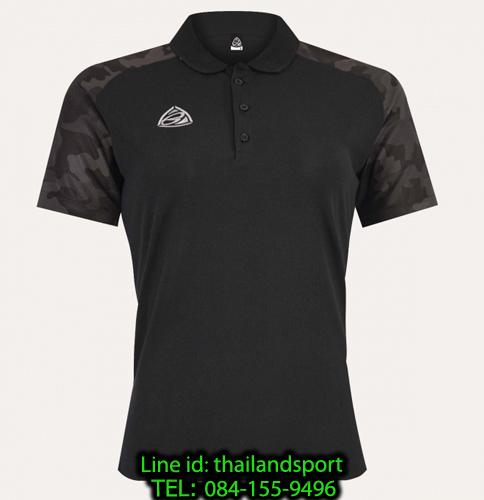 เสื้อโปโล polo shirt อีโก้ ego sport รุ่น eg 6158 (สีดำ) women