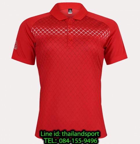 เสื้อโปโลกีฬา polo sport  อีโก้ ego sport รุ่น eg 6160 (สีแดง) women