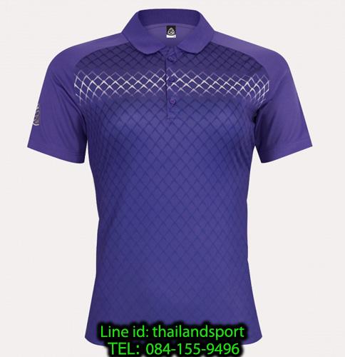 เสื้อโปโลกีฬา polo sport อีโก้ ego sport รุ่น eg 6160 (สีม่วงเข้ม) women