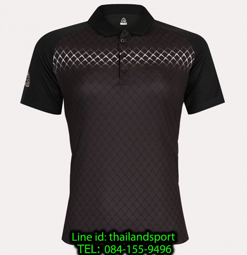 เสื้อโปโลกีฬา polo sport  อีโก้ ego sport รุ่น eg 6160 (สีดำ) women