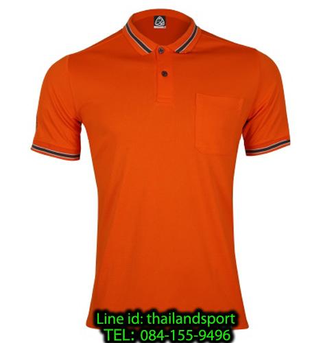 เสื้อโปโลกีฬา polo sport อีโก้ รุ่น eg 6163 (สีส้มแสด) man