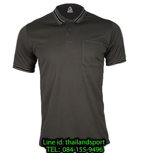 เสื้อโปโลกีฬา polo sport  อีโก้ รุ่น eg 6163 (สีเทาเปียกปูน) man