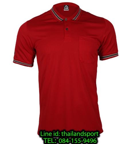 เสื้อโปโลกีฬา polo sport  อีโก้ รุ่น eg 6163 (สีแดงแทงโก้) man
