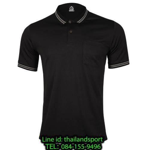 เสื้อโปโลกีฬา polo sport  อีโก้ รุ่น eg 6163 (สีดำ) man
