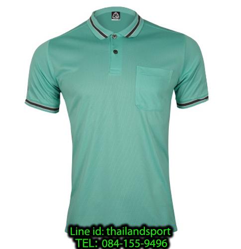เสื้อโปโลกีฬา polo sport  อีโก้ รุ่น eg 6163 (สีเขียวพาร์คกรีน) man