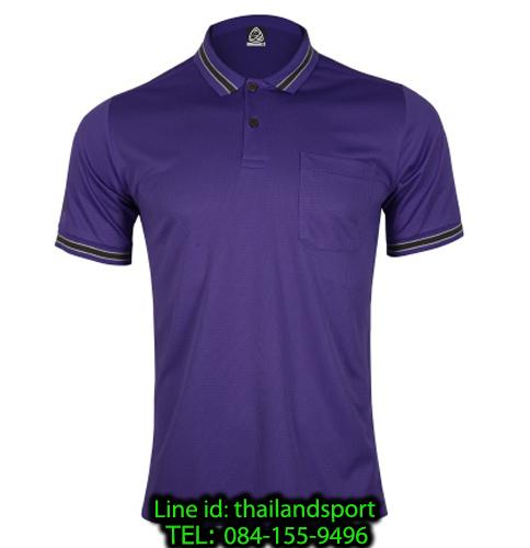 เสื้อโปโลกีฬา polo sport  อีโก้ รุ่น eg 6163 (สีม่วงเข้ม) man