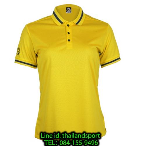 เสื้อโปโลกีฬา polo sport อีโก้ ego sport รุ่น eg 6164 (สีเหลืองจัน) women