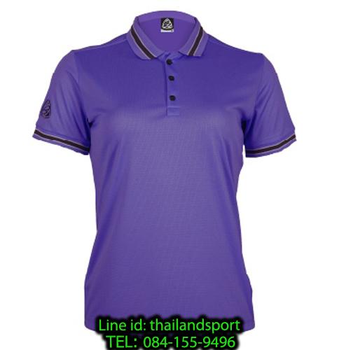 เสื้อโปโลกีฬา polo sport อีโก้ ego sport รุ่น eg 6164 (สีม่วงเข้ม) women