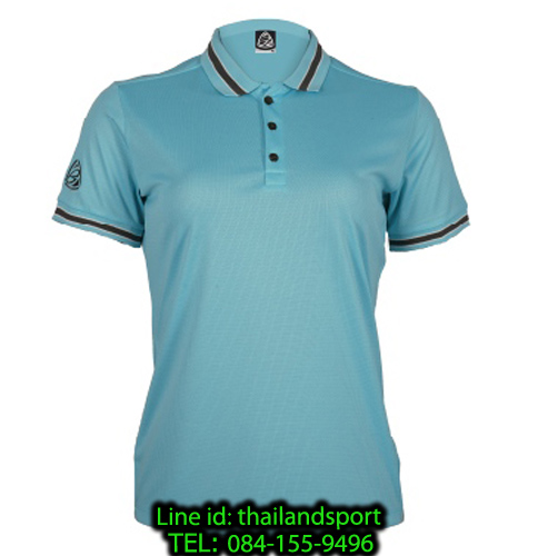 เสื้อโปโลกีฬา polo sport อีโก้ ego sport รุ่น eg 6164 (สีฟ้าแคริบเบียน) women