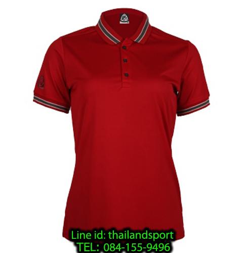 เสื้อโปโลกีฬา polo sport อีโก้ ego sport รุ่น eg 6164 (สีแดงแทงโก้) women