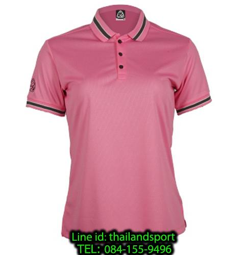 เสื้อโปโลกีฬา polo sport อีโก้ ego sport รุ่น eg 6164 (สีชมพู) women