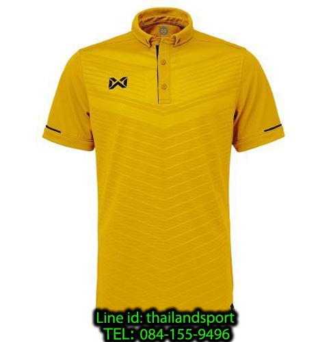 เสื้อโปโลกีฬา polo วอริกซ์ warrix รุ่น wa-3318 (สีทอง-ดำ na ) ทอลาย
