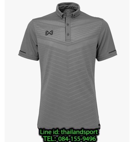 เสื้อโปโลกีฬา polo วอริกซ์ warrix รุ่น wa-3318 (สีเทา ee ) ทอลาย