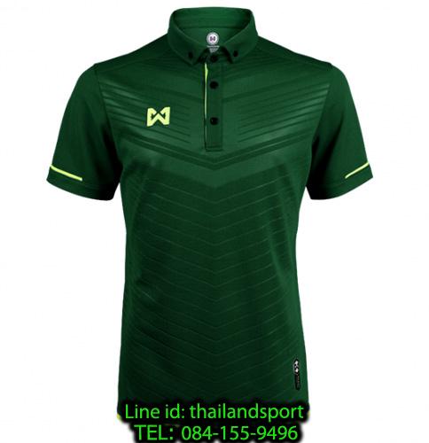 เสื้อโปโลกีฬา polo วอริกซ์ warrix รุ่น wa-3318 (สีเขียว gg) ทอลาย