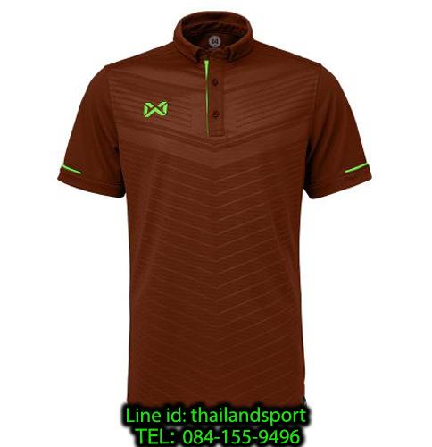 เสื้อโปโลกีฬา polo วอริกซ์ warrix รุ่น wa-3318 (สีเลือดหมู-เขียว mg) ทอลาย