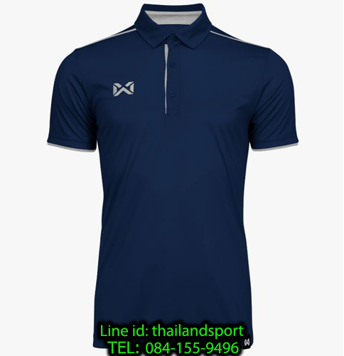 เสื้อโปโลกีฬา polo วอริกซ์ warrix รุ่น wa-3326 (สีกรมท่า-เทา de )