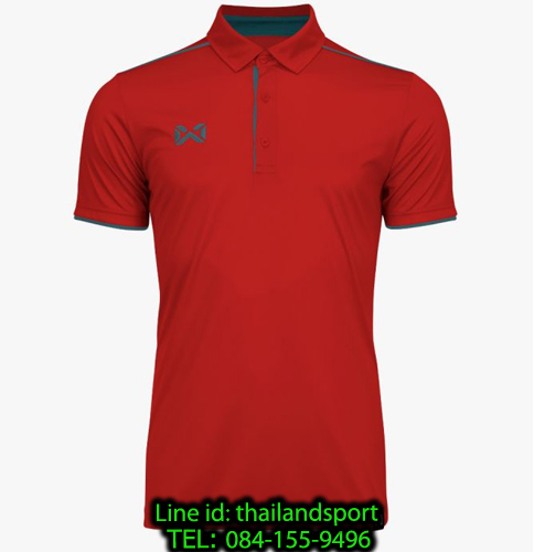 เสื้อโปโลกีฬา polo วอริกซ์ warrix รุ่น wa-3326 (สีแดง-ฟ้าทะเล ri )