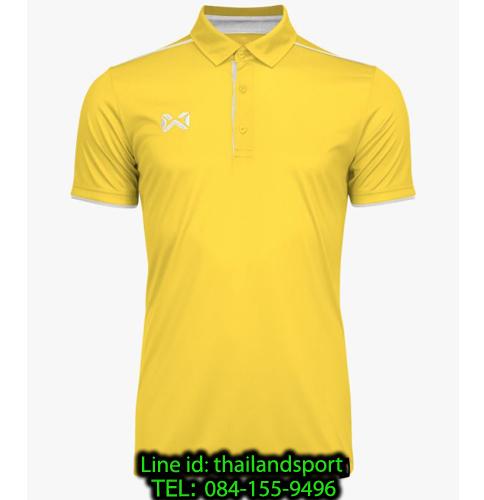 เสื้อโปโลกีฬา polo วอริกซ์ warrix รุ่น wa-3326 (สีเหลือง-เทา ye)