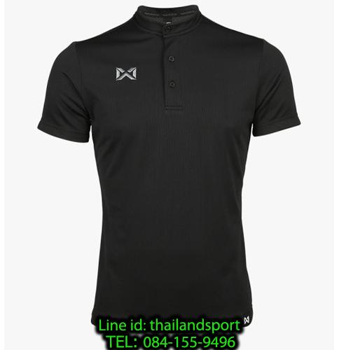 เสื้อโปโลกีฬา คอจีน polo วอริกซ์ warrix รุ่น wa-3329 (สีดำ aa)