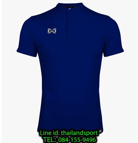 เสื้อโปโลกีฬา คอจีน polo วอริกซ์ warrix รุ่น wa-3329 (สีน้ำเงิน bb)
