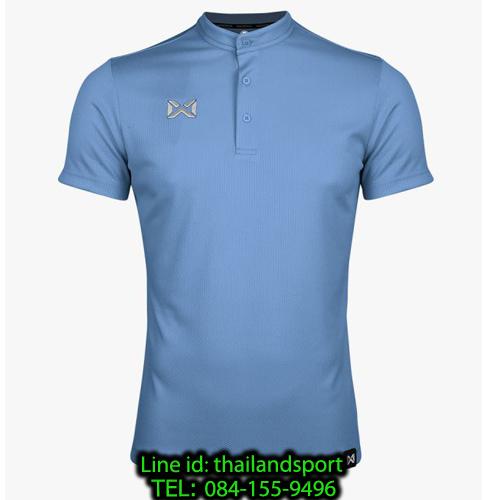 เสื้อโปโลกีฬา คอจีน polo วอริกซ์ warrix รุ่น wa-3329 (สีฟ้า ll)
