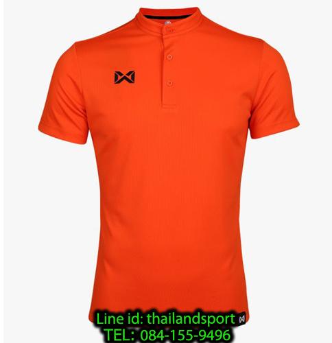 เสื้อโปโลกีฬา คอจีน polo วอริกซ์ warrix รุ่น wa-3329 (สีส้ม oo)