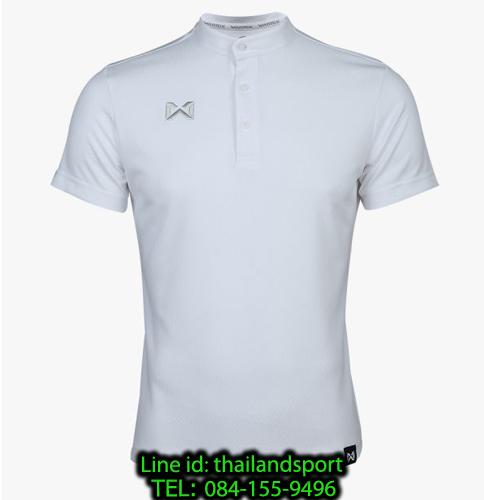 เสื้อโปโลกีฬา คอจีน polo วอริกซ์ warrix รุ่น wa-3329 (สีขาว ww)