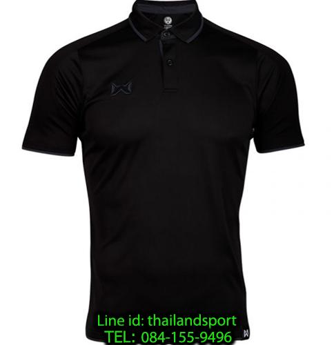 เสื้อโปโลกีฬา polo วอริกซ์ warrix รุ่น wa-3328 (สีดำ-เทา ae)