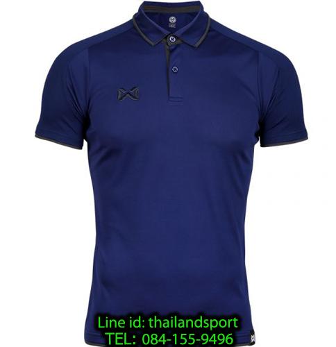 เสื้อโปโลกีฬา polo วอริกซ์ warrix รุ่น wa-3328 (สีกรมท่า-เทา de)