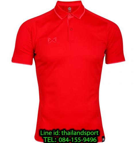 เสื้อโปโลกีฬา polo วอริกซ์ warrix รุ่น wa-3328 (สีแดง-ชมพู rp)