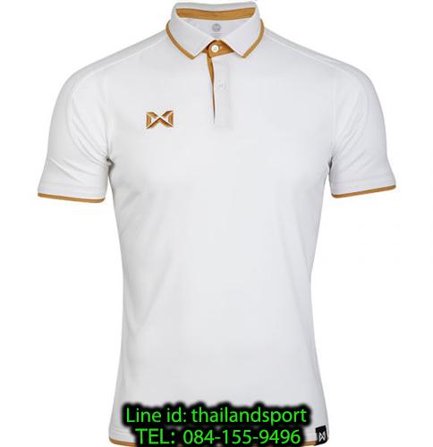 เสื้อโปโลกีฬา polo วอริกซ์ warrix รุ่น wa-3328 (สีขาว-น้ำตาล wt)