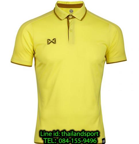 เสื้อโปโลกีฬา polo วอริกซ์ warrix รุ่น wa-3328 (สีเหลือง-เขียว yg)
