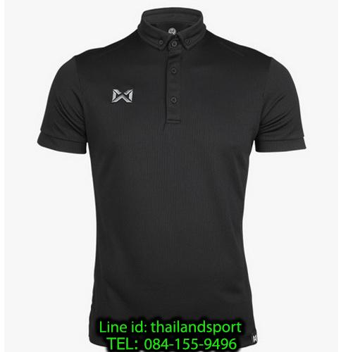 เสื้อโปโลกีฬา polo วอริกซ์ warrix รุ่น wa-3324 (สีดำ aa)