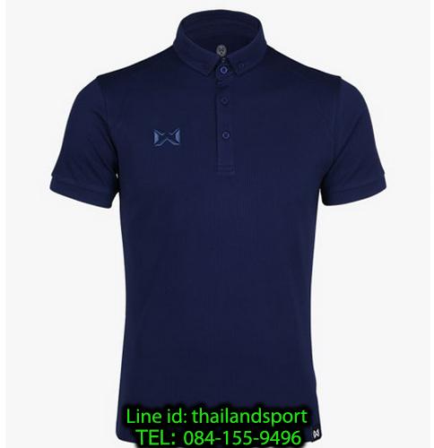 เสื้อโปโลกีฬา polo วอริกซ์ warrix รุ่น wa-3324 (สีกรมท่า dd)