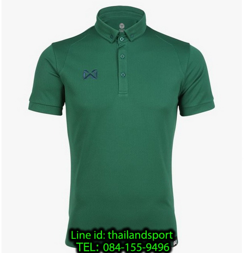 เสื้อโปโลกีฬา polo วอริกซ์ warrix รุ่น wa-3324 (สีเขียว gg)