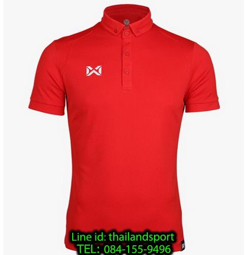เสื้อโปโลกีฬา polo วอริกซ์ warrix รุ่น wa-3324 (สีแดง rr)