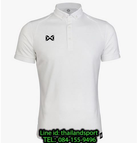 เสื้อโปโลกีฬา polo วอริกซ์ warrix รุ่น wa-3324 (สีขาว ww)